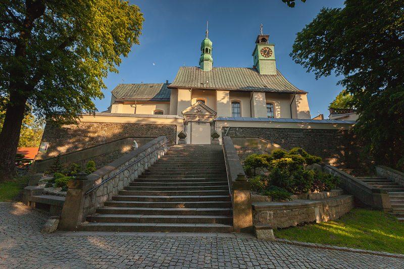 """Wejście od strony północnej schodami """"Ave Maria"""""""
